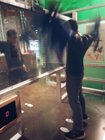 Cousin trying to fly, Toronto Sci & Tech Museum