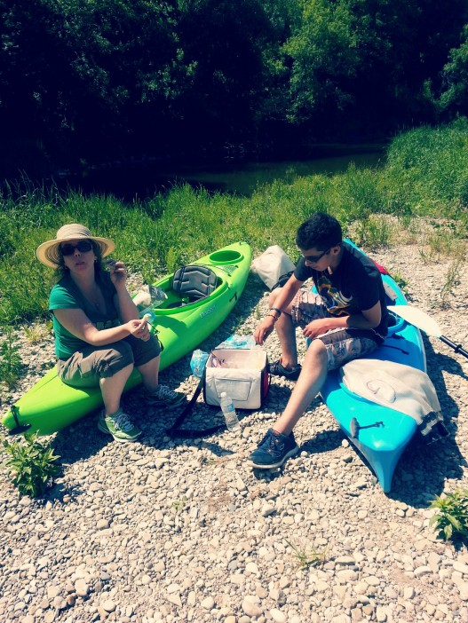 A day of kayaking with mum