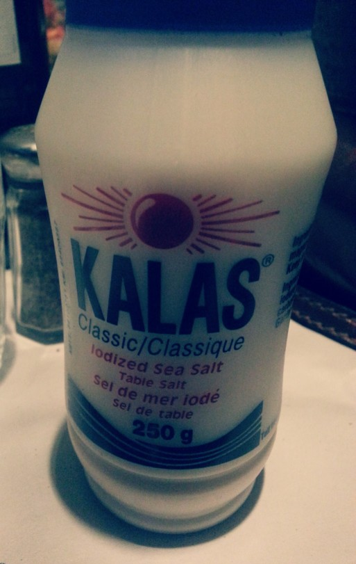 Kalas salt - that's it, no more! If you're Arab, you'd understand that...