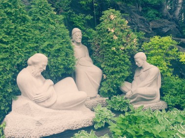 Stone carvings, gardens at Saint Joseph's Oratory of Mount Royal