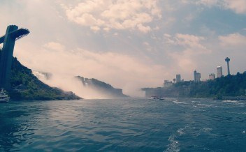 View from a boat, Niagara