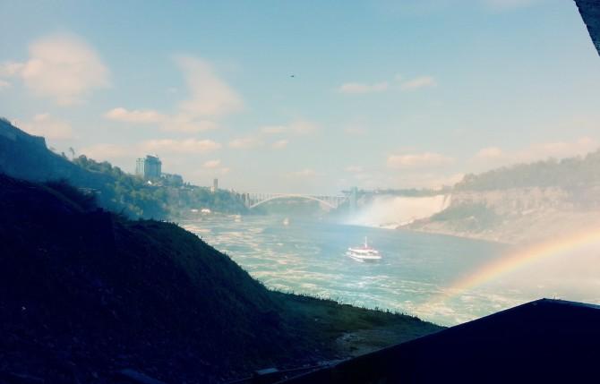 Pretty rainbow over Niagara