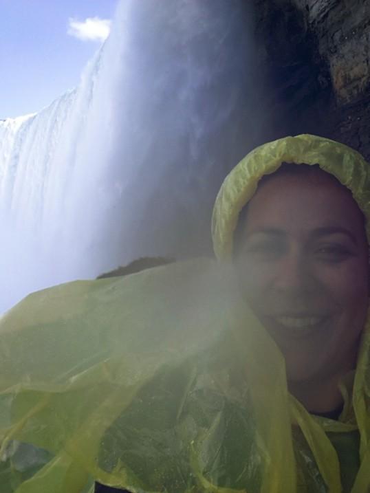 Thundering Falls, soaking Jojo!