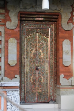 Carved & painted doorway