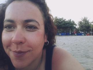 First morning in Bali, on Kuta Beach.