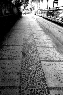 The alleys of Ubud from the villa to town were decorated with pebbles and much graffiti.