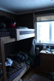 My bunk - sleeping in -40° C sleeping bag